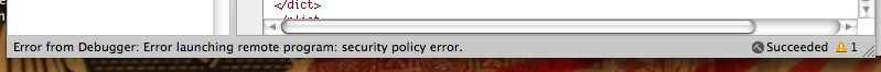 Security Policy Error